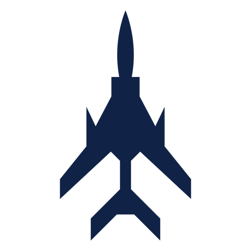 Light fighter plane top view silhouette Transparent PNG