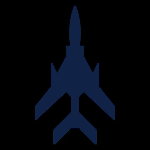 Silhueta de vista superior do avião de combate leve Transparent PNG