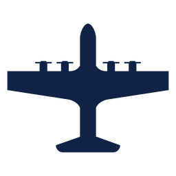 Silueta de vista superior de avión de Lockheed ac 130