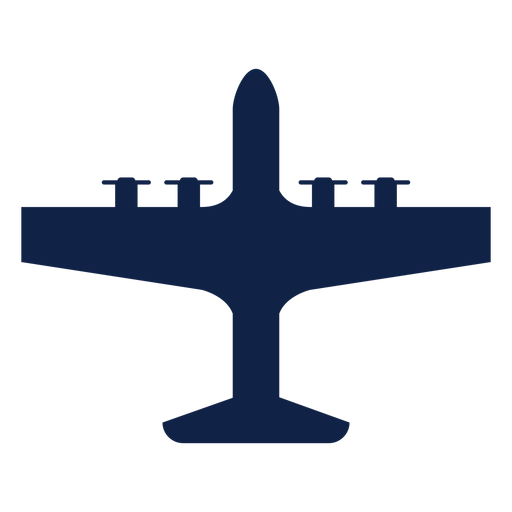 Lockheed ac 130 airplane top view silhouette Transparent PNG