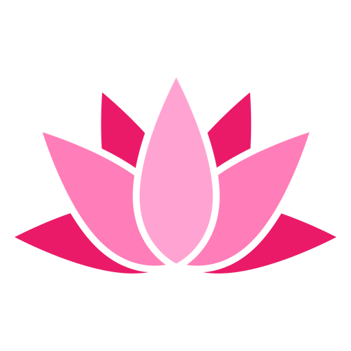 Ícone colorido de lótus Transparent PNG