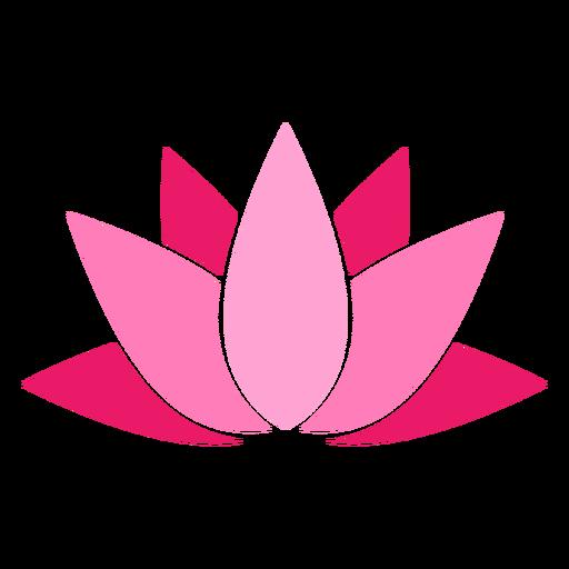 Icono de color de loto Transparent PNG