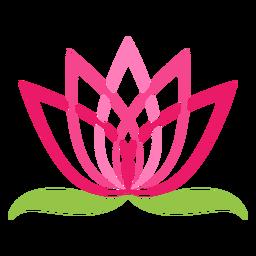 Símbolo de logotipo de flor de loto