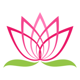 Símbolo do logotipo da flor de lótus