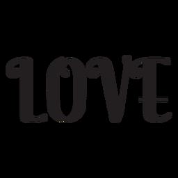 Icono de letras de amor