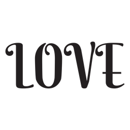 Love lettering icon
