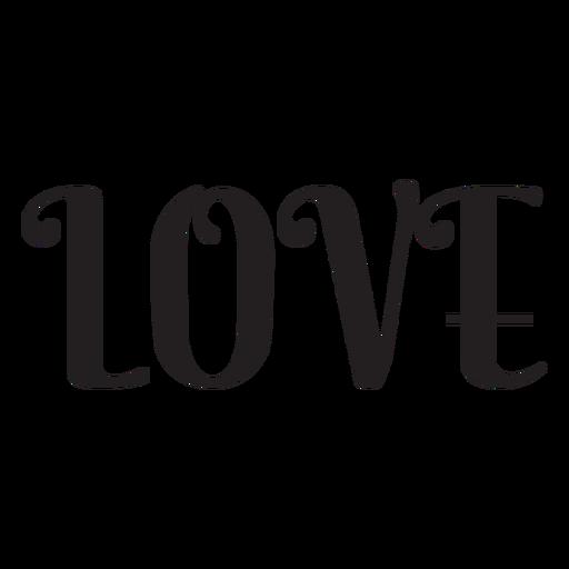 Icono de letras de amor Transparent PNG