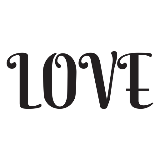 Love lettering icon Transparent PNG
