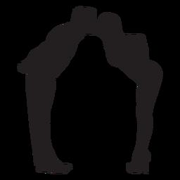 Liebhaber niedlichen Kuss Silhouette