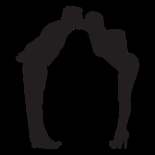 Lover cute kiss silhouette