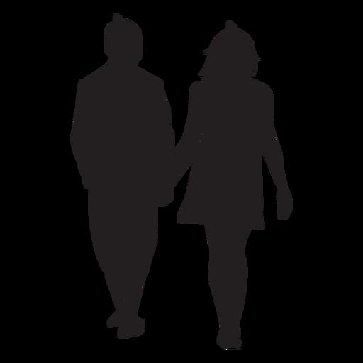 Amantes segurando a silhueta de mão Transparent PNG