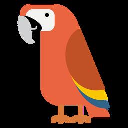 Ilustração de pássaro papagaio arara