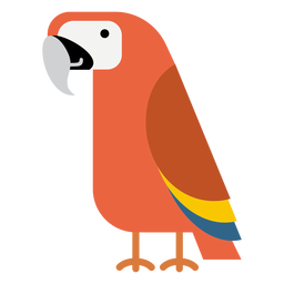 Ilustración de pájaro loro guacamayo