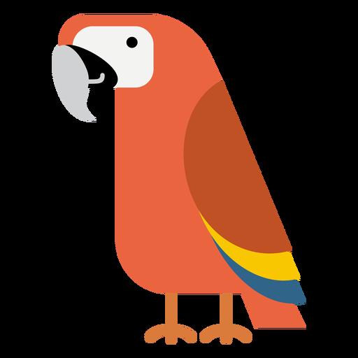 Ilustração de pássaro papagaio de arara