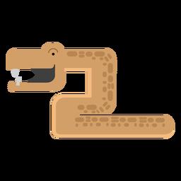 Ilustración de serpiente mamba
