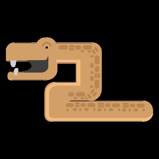 Ilustração de cobra de mamba Transparent PNG