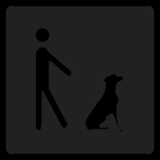 Mann und ein Hund Quadrat Symbol Transparent PNG