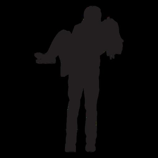 Hombre, mujer, silueta que lleva Transparent PNG