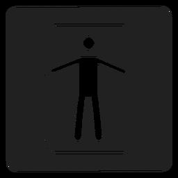 Mann in einem quadratischen Rahmensymbol