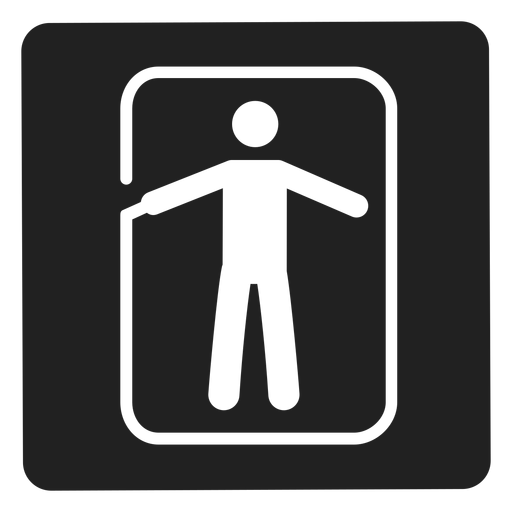 Man in a frame square icon