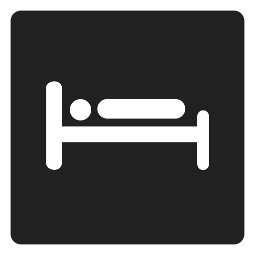Man lying in bed square icon Transparent PNG