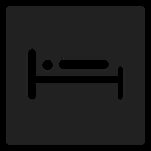 Mann liegend im Bett quadratische Ikone Transparent PNG