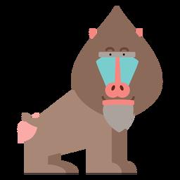 Ilustración de mono mandril