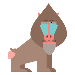 Mandrill monkey illustration