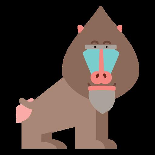 Ilustración de mono mandril Transparent PNG