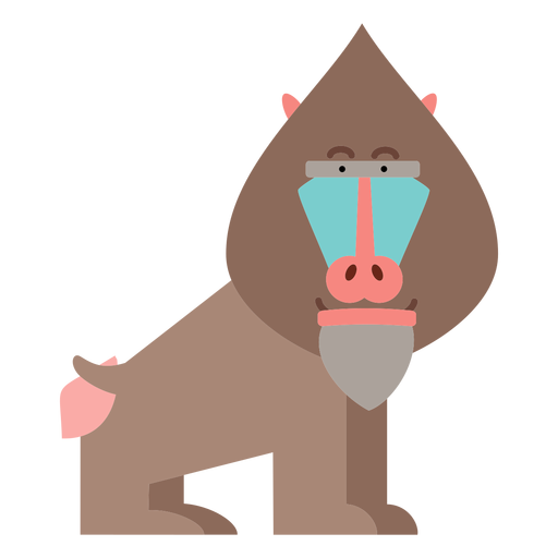 Mandrill monkey illustration Transparent PNG