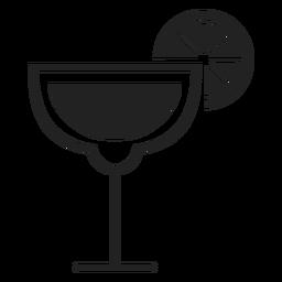 Icono de cóctel Margarita plana