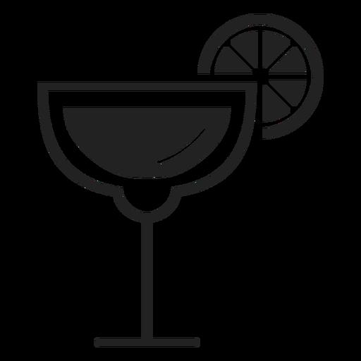 Icono de cóctel Margarita plana Transparent PNG