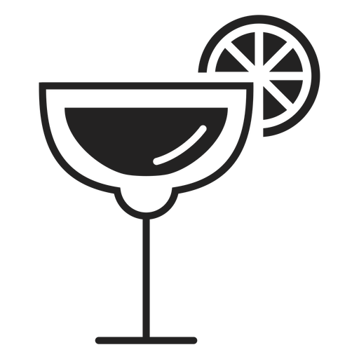 Margarita cocktail flat icon Transparent PNG