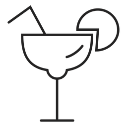 Margarita glass icon