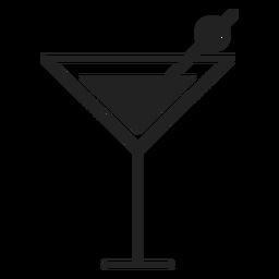 Icono de cóctel martini plana