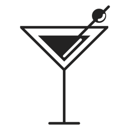 Martini-Cocktail flach Symbol