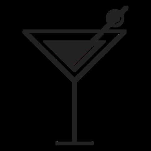 Icono de cóctel martini plana Transparent PNG
