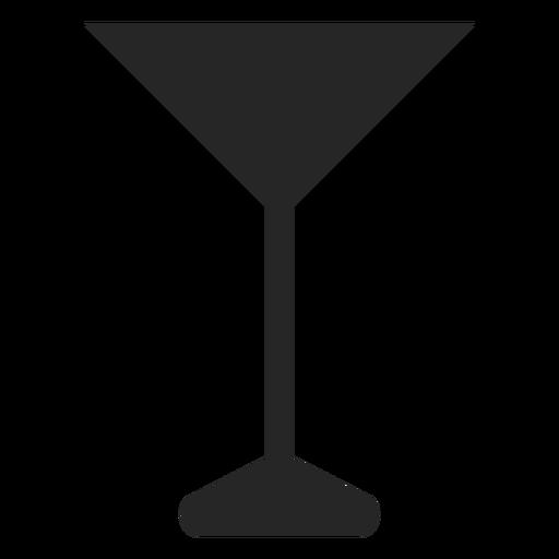 Martini icono plano de vidrio Transparent PNG
