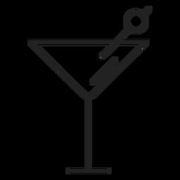 Icono de vaso de martini