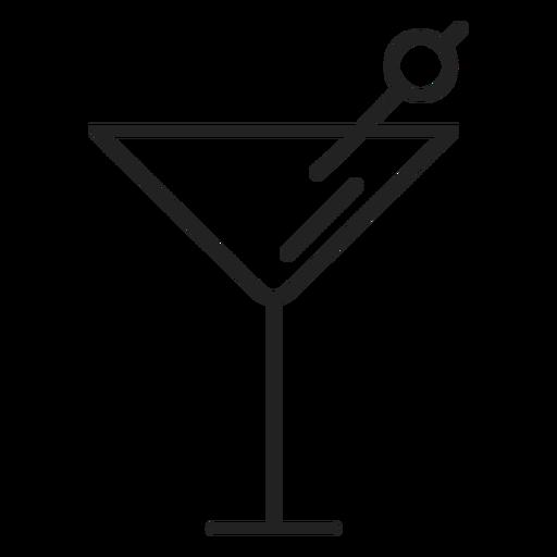 Icono de vaso de martini Transparent PNG