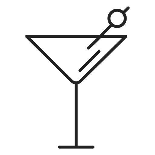Martini glass icon Transparent PNG