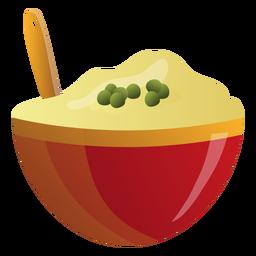 Ilustración de tazón de puré de patatas