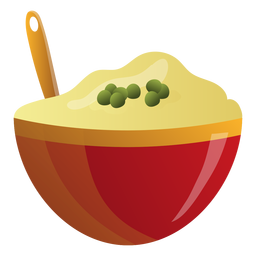 Mashed potatoes bowl illustration