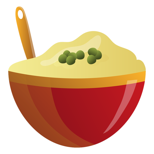 Ilustración de tazón de puré de patatas Transparent PNG
