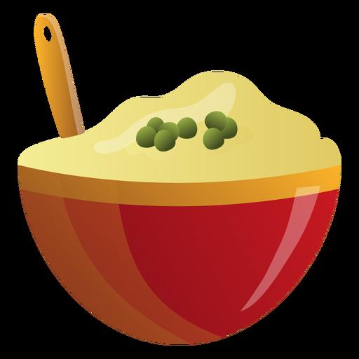 Mashed potatoes bowl illustration Transparent PNG