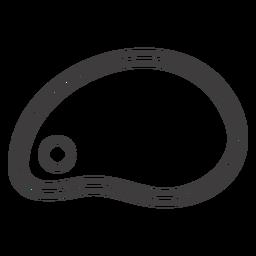 Icono de trazo de losa de carne