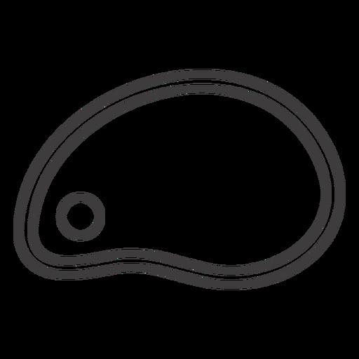Icono de trazo de losa de carne Transparent PNG