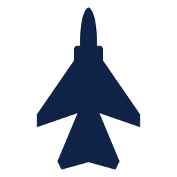 Silueta de vista superior de avión Mig 29