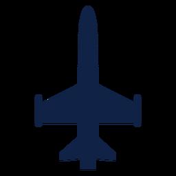 Silueta de vista superior de aviones militares