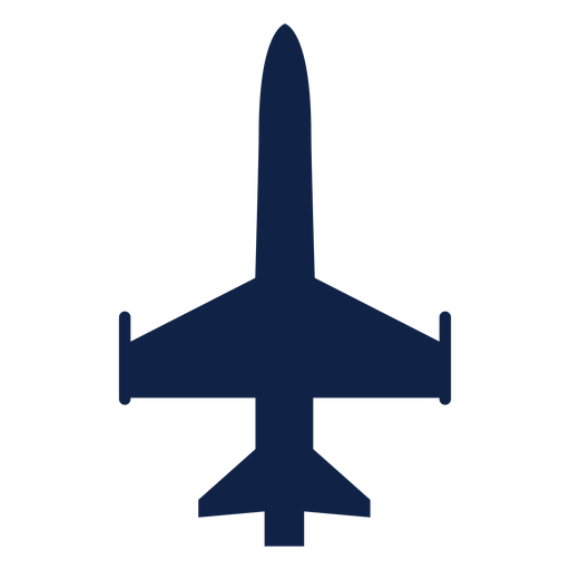 Military aircraft top view silhouette Transparent PNG